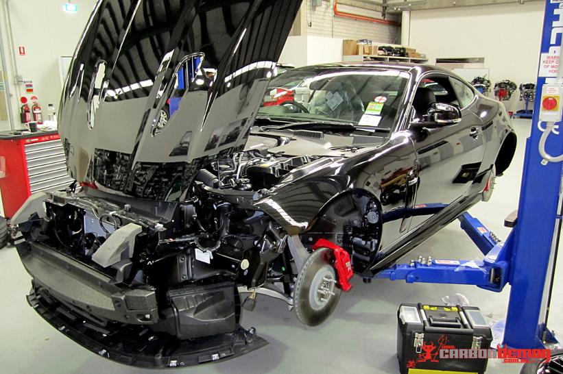Jaguar XKR Vinyl Wrap - Carbon Demon