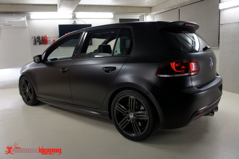 Black Golf R >> VW Golf R Matte Black Vinyl Wrap