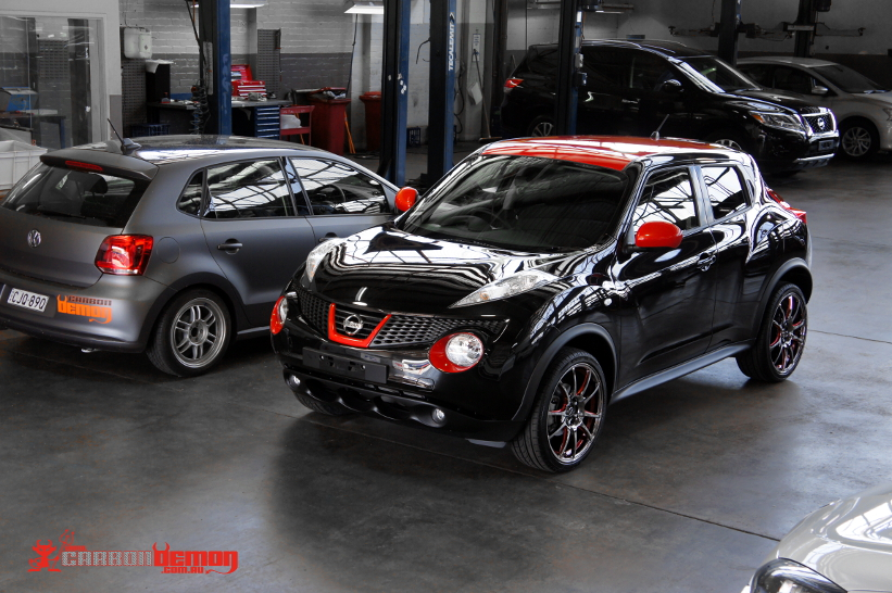 Nissan Vinyl Wrap Carbon Demon Sydney