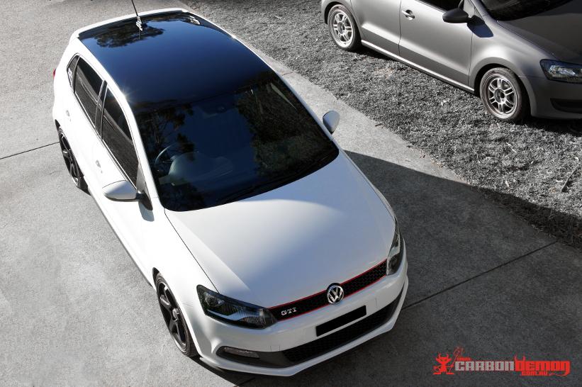 VW Polo Vinyl Wrap - Carbon Demon Sydney