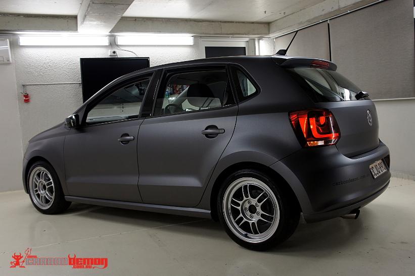Carbon Demon VW Polo Matte Grey