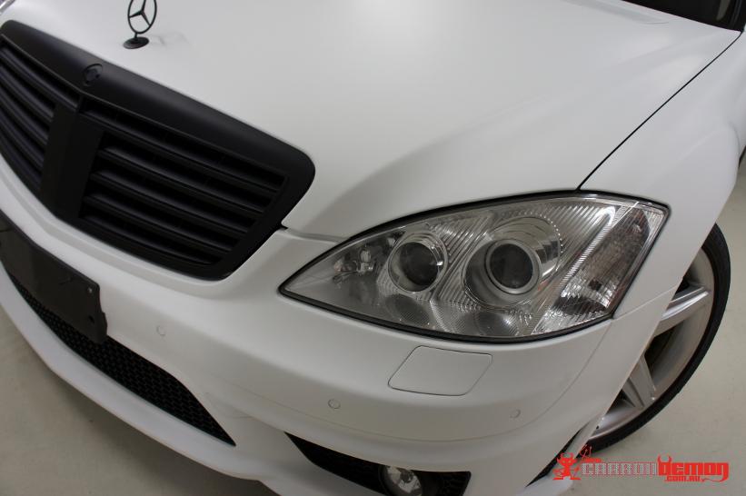 Mercedes-Benz AMG S65 matte white vinyl wrap