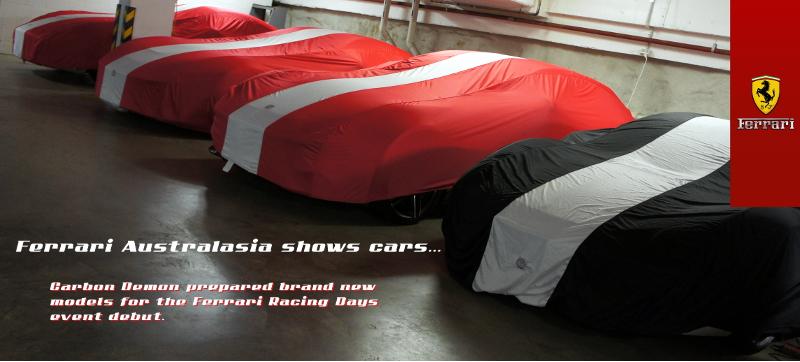 Ferrari show cars - vinyl wrapped by Carbon Demon Sydney