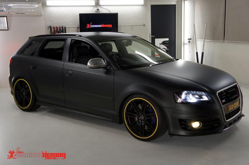 Audi S3 Matte Vinyl Car Wrap Sydney Demon