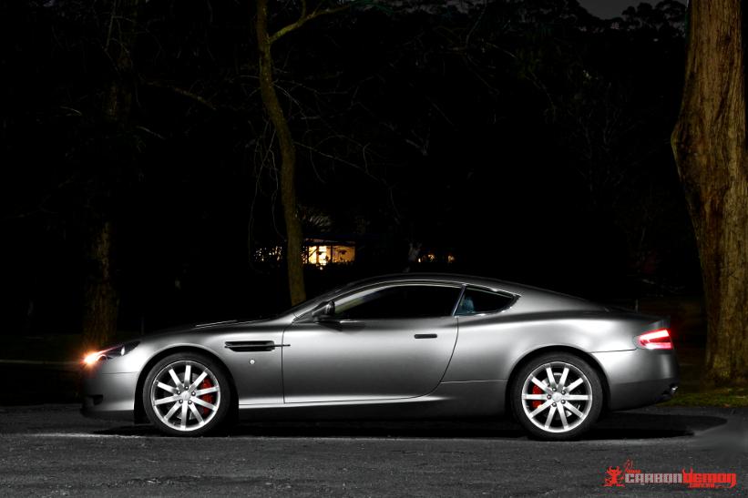Matte Grey Aston Martin Wrap Carbon Demon