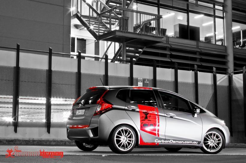 Matte Grey Honda Jazz Vinyl Wrap Carbon Demon Sydney